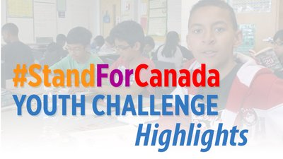 #StandForCanada Youth Challenge highlights