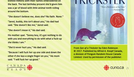 Canada Reads 2020: Son of a Trickster excerpt (PDF)