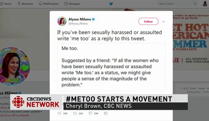 #MeToo movement: Thousands of women identify as victims of assault, harassment