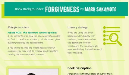 Canada Reads 2018: Backgrounder on Forgiveness