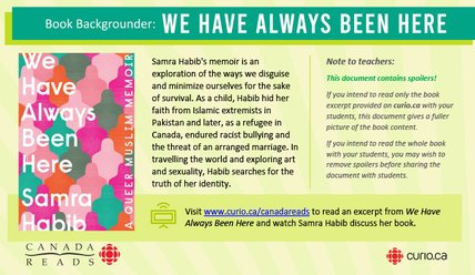 Canada Reads 2020: Backgrounder on We Have Always Been Here (PDF)