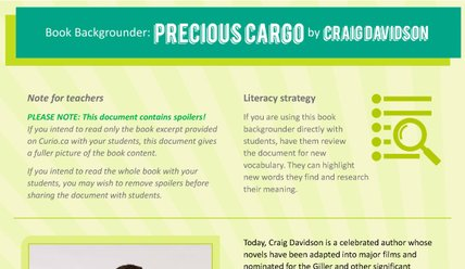Canada Reads 2018: Backgrounder on Precious Cargo