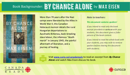 Canada Reads 2019: Backgrounder on By Chance Alone (PDF)