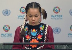 Canadian Indigenous girl makes safe water plea to UN in New York