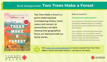 Canada Reads 2021: Backgrounder on Two Trees Make a Forest (PPT)