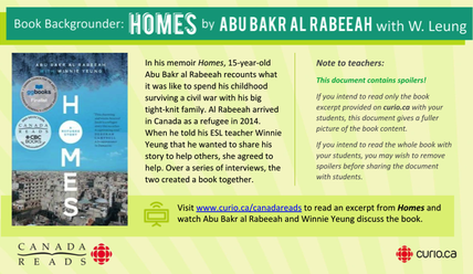 Canada Reads 2019: Backgrounder on Homes (PDF)