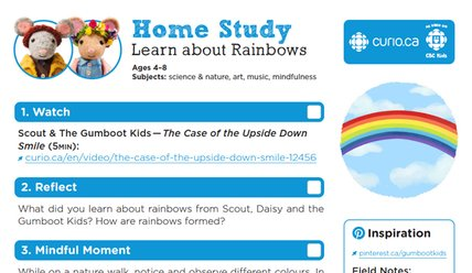 Rainbows - Gumboot Kids worksheet