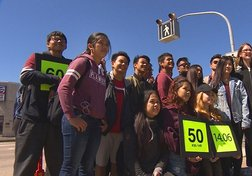 Students use math to make street crossing safer
