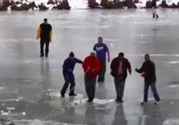 Falling Through Ice